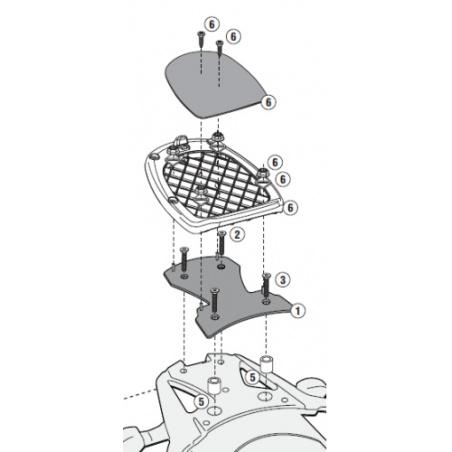 AF260 plexi čiré Suzuki DL...