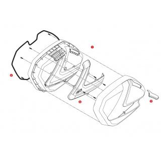 E195 opěrka GIVI pro kufr B...